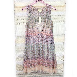 Anthropologie Dresses - Anthropologie Maeve Violetta Dress Floral Layered